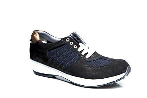 Xsensible Stretchwalker , Chaussures de ville à lacets pour femme noir noir Noir