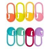 Augmente le plaisir 30pcs en plastique petit point de boucle à tricoter des aiguilles de marqueur de crochet