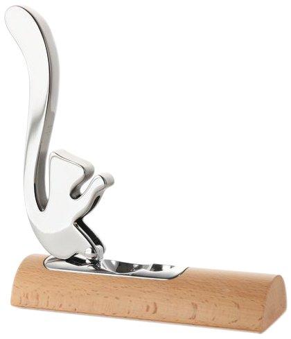Alessi 'Scoiattolo, Nußknacker aus Edelstahl 18/10 glänzend poliert und Holz