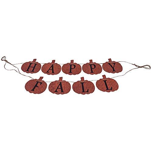 Designs Combined Happy Fall Pumpkins 73,7 cm Rüschen aus Metall zum Aufhängen von Ernte