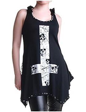 crazyinlove Mujer Camiseta de calavera