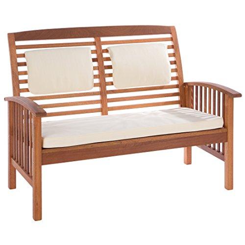 Ultranatura Loungebank 2-Sitzer, Canberra Serie - Edles & Hochwertiges Eukalyptusholz FSC zertifiziert – 119 cm x 71 cm x 89 cm