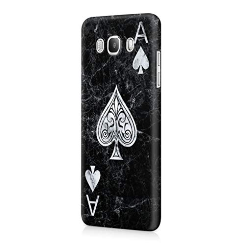 Maceste Ace of Spades Black Marble Kompatibel mit Samsung Galaxy J5 2016 SnapOn Hard Plastic Phone Protective Fall Handyhülle Case Cover
