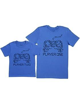 Player One & Player Two - regalo para padres e hijos - camiseta de niño y camiseta de hombre
