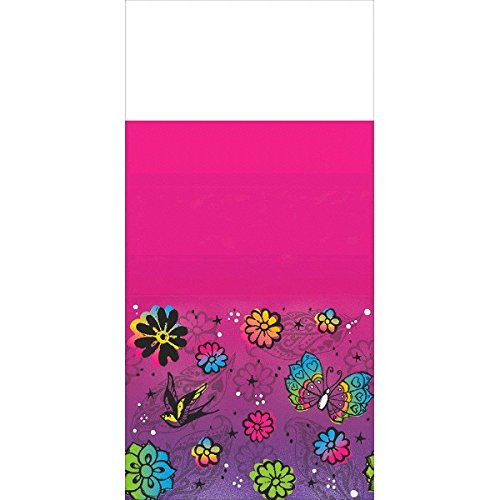 Keep Flying Plastic Table Cover, Magenta, 54
