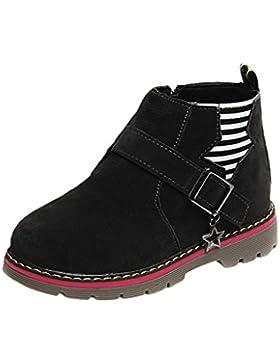 TPulling Mode Junge Und Mädchen Martin Stiefel Herbst Und Winter Kinder-Verdickung Lässige Schuhe