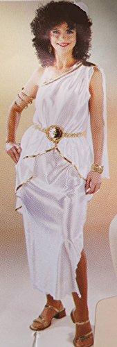 Karneval-Klamotten Kostüm Römerin weiß-Gold Dame Karneval Toga Damenkostüm Größe 40/42