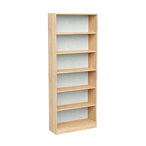 Infinikit haven libreria scaffale 6 ripiani - quercia dorata