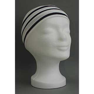 Stirnband weiss - blau gestreift für Erwachsene von Modas
