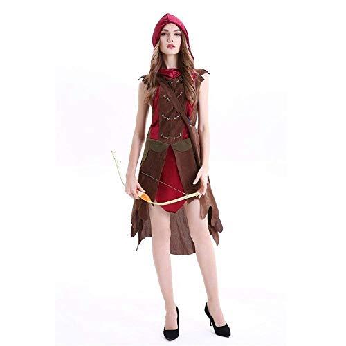 Fashion-Cos1 Frauen Fairy Hunter Cosplays Weibliche Halloween Waldelfen Kostüme Karneval Maskerade Nachtclub Rollenspiel Party Kleid (Size : M) (Vampire Hunter Kostüm)