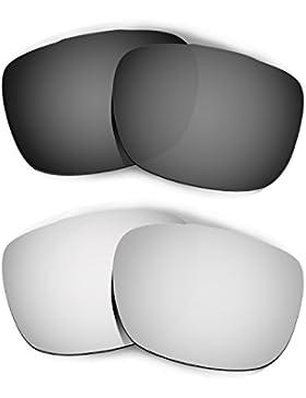 Hkuco Mens Replacement Lenses For Oakley TwoFace Black/Titanium Sunglasses