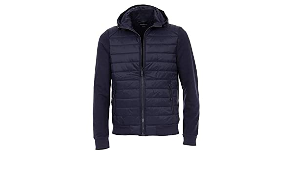 Casa Moda Herren Sweat Jacke unifarben modisch gesteppt in