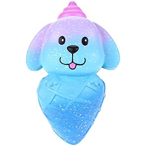 juguetes kawaii VLAMPO Squishy Slow Rising Toys Squishies Soft Squeeze Juguetes perfumados Puppy Ice Cream 5.9 (Galaxy)