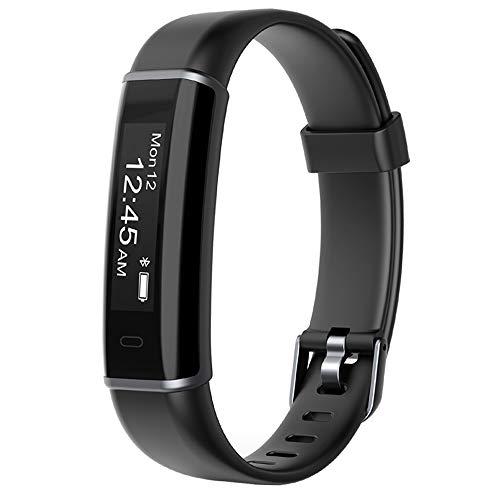 YAMAY Fitness Armband,Wasserdicht IP67 Fitness Trackers Aktivitätstracker Fitness Uhr Smartwatch Schrittzähler Uhr für Damen Herren Vibrationsalarm Anruf SMS Whatsapp Beachten für iPhone Android Handy