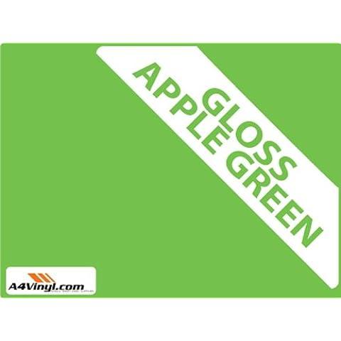 Apple, colore: verde brillante, confezione da 3 pezzi, 150 mm, per piastrelle da bagno & trasferimenti