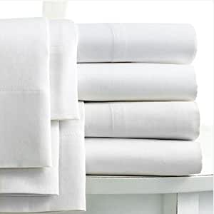 Linens Limited 100% Egyptian Cotton 400 Thread Count Extra Deep Fitted Sheet, White, Single