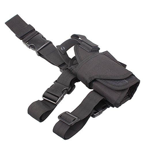 Yunwal Unisex verstellbar Tornado Beinholster Pistolenholster Gürtelbefestigung Tiefziehholster Oberschenkelholster Messer Damen Schulter Bein (Mags Mit Paintball-pistolen)