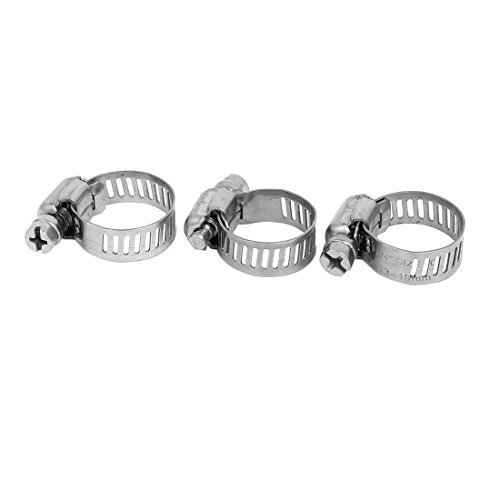 Deal Mux 13-19 mm Plage réglable Tube Collier de serrage Hoops Fasteners Coupleur de ton argent 3Pcs
