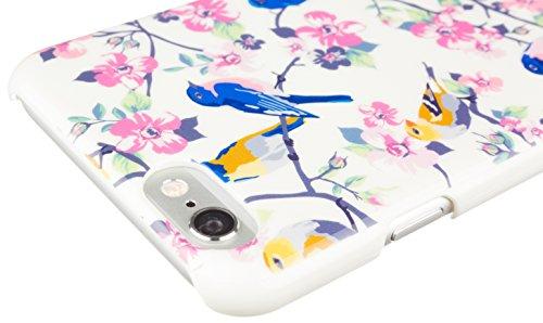 Caseit Inspire Clip-On Hard Shell Hülle Case Cover Etui für iPhone 6/6S - Silber Streifen Vintage Vogel