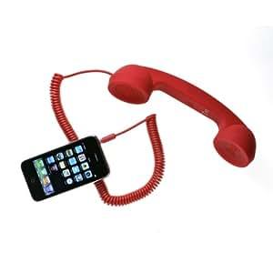 Combiné téléphone rétro rouge POP PHONE