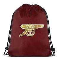 Jhonangel Arsenal the Gunners Drawstring Backpack Bag Women&Men Sport Gym Bag 14.2 x 16.9 Inch/36 x 43cm