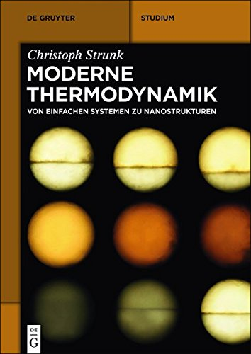 Moderne Thermodynamik: Von einfachen Systemen zu Nanostrukturen (De Gruyter Studium)