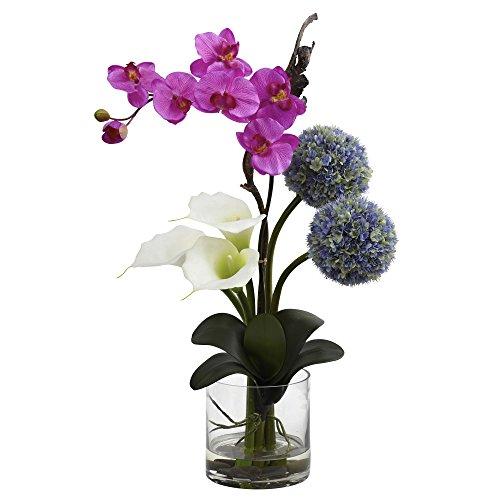 Nearly Natural Fast Natur 1334Calla Orchidee und Ball Blumenarrangement