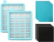 مجموعة شبكة فلتر هواء العادم + هواء داخلي لمكنسة فيليبس الكهربائية FC8471 FC8630 FC9322، مجموعة شبكة اساسية لل