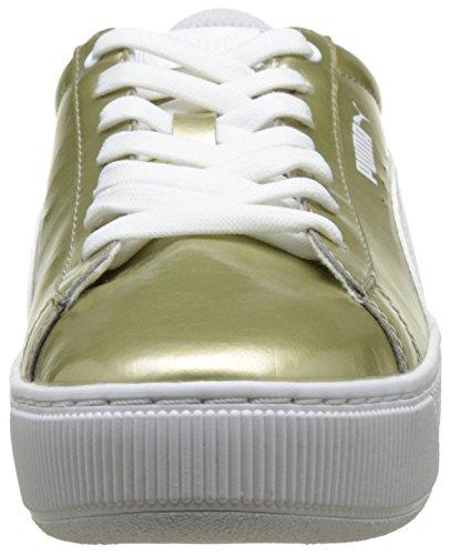 Puma Vikky Platform Metallic, Low Athletic Sneakers Beige (metallic Gold-puma White 01)