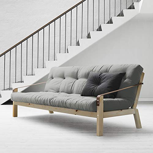 Convertible Couch (Alfred & Compagnie Soldes Couch Convertible + Futon Jesper, 130 x 190 cm, Kiefer, naturfarben)
