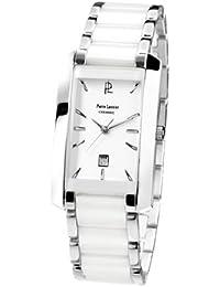 Pierre Lannier - 057G929 - Tendance - Montre Femme - Quartz Analogique - Cadran Blanc - Bracelet Acier/Céramique Blanc