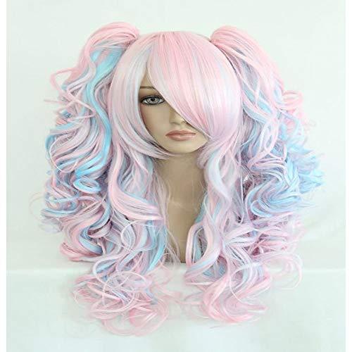 sintéticas / Pelucas de Broma Ondulado Kardashian Estilo Corte a capas Sin Tapa Peluca Rosa Rojo Azul Mujer Pelo reflectante / balayage Rosa Peluca Larga hairjoy:Rosa ()