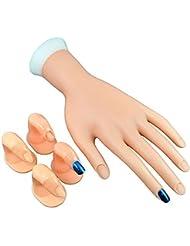 1pc mobile pratique main faux ongles conseils pour Nail Art Practicing & 4pcs doigts Nail Art Display Nail Art pratique doigts (2pcs dans chaque style) #242