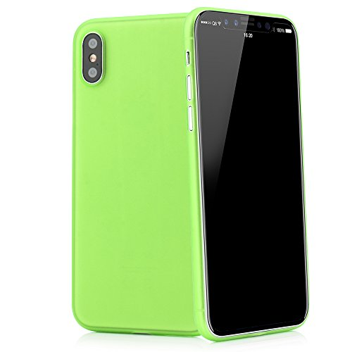 "Ultra slim case in verde per apple iphone x 5,8"" skin cover bumper transparente da quadocta"
