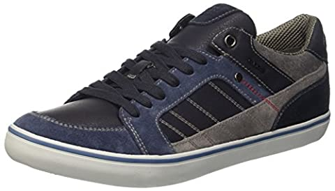Geox Herren U Box F Low-Top, Blau (Navy/Lt Navycf4b4), 42 EU