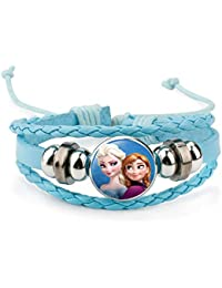Girls' Accessories Clothing, Shoes & Accessories Frozen Elsa And Anna Charm Bracelet Adjustable 2 To 4 Year Gift Box Birthday