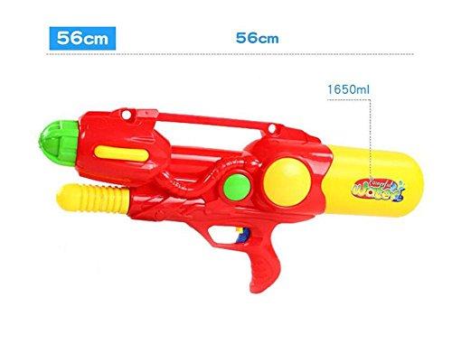 HJXJXJX Plastik Material Druck Wasser Pistole Kinder spielen Wasser Spielzeug aufblasbare Wasserpistole , red (Spielzeug Elektronische Maschine Gun)