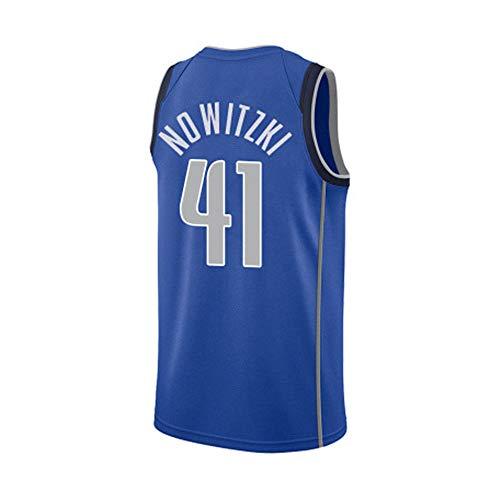 FRHLH Mavericks Lone Ranger Dirk Nowitzki No. 41 Jersey, Basketball Jersey, James 23 Jersey, Sport Basketball Uniform, geeignet für Jungen und Mädchen L