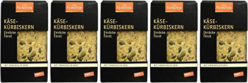 tegut... vom Feinsten Rustikales Knäckebrot Käse-Kürbiskern, 5er Pack (5 x 200 g)