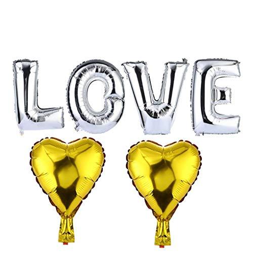 6pcs Love Heart Shaped Babyparty-Partei Folienballon Startseite Hochzeit Geburtstag Partei-Dekoration Luftballons fgyhty