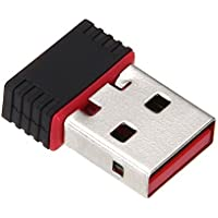 SODIAL(R) Mini USB Drive Adaptador de LAN inalambrico 802.11 n / g / b Tarjeta de red inalambrica 150Mbps