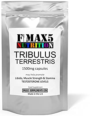 Extreme Testosterone Booster Tribulus Terrestris 1500mg Higher Strength 95% Saponins - 120 capsules - UK Manufactured Lab Tested Testosterone Tablets - Super Strength Testosterone Supplement For Men - Increase Test Levels with Added Tribulus - - Super Cha