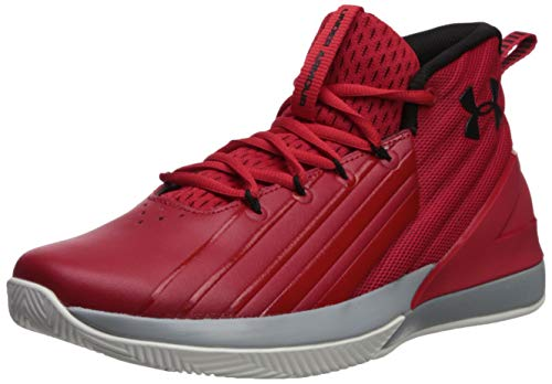 Under Armour Lockdown 3, Zapatos de Baloncesto para Hombre, Rojo (Red/Mod Gray/Black 600), 40 EU