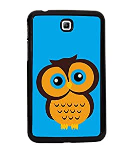 Fiobs High Glossy Designer Phone Back Case Cover Samsung Galaxy Tab 3 (7.0 Inches) P3200 T210 T211 T215 LTE ( Cute Owl Colorful Art )