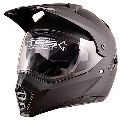 TOUKUI Marcas cascos de moto motocross racing casco off road moto moto cara completa moto cross casco doble escudo para...
