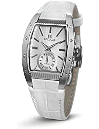SECULUS WOMEN'S DESIGN WHITE LEATHER BAND QUARTZ WATCH 1667.2.1069 LW SS W