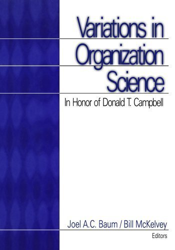 Variations in Organization Science: In Honor of Donald T Campbell by Joel A.C. Baum (1999-05-14)