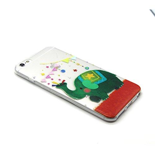 iPhone 5 5S Custodia, iPhone 5 5S Cover, iPhone 5 5S Case, Felfy Custodia Trasparente Chiaro Ultra Sottile Silicone Gel TPU Morbida Elegante Belle Rosa Farfalla Floral Fiore Bling di Scintillio del Di CÙte Verde Elegante