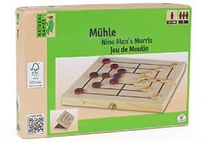 Natural games - 0026597fsc - jeu de la marelle ou jeu du moulin en bois