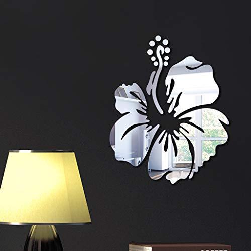 Yallylunn 3D DIY Flower Shape Acrylic Wall Sticker Modern Stickers Decoration Es Kann Auf Glatte OberfläChen Wie WäNde Spiegel Und Fenster Geklebt Werden
